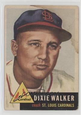 1953 Topps - [Base] #190 - Dixie Walker [Poor]