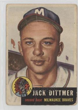 1953 Topps - [Base] #212 - Jack Dittmer [Poor]