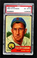 Short Print - Fred Hutchinson (Bio Information in Black) [PSA 6 EX…