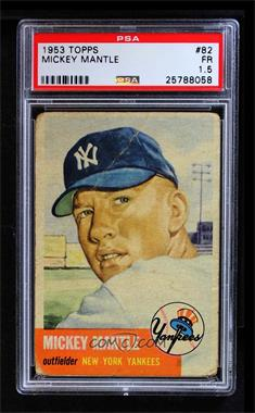 1953 Topps - [Base] #82 - Mickey Mantle [PSA 1.5 FR]