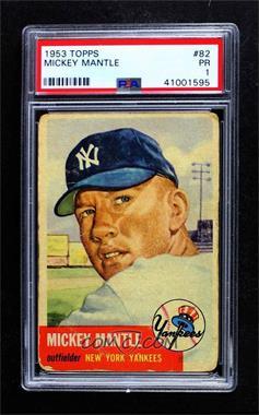 1953 Topps - [Base] #82 - Mickey Mantle [PSA1PR]