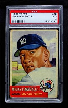 1953 Topps - [Base] #82 - Mickey Mantle [PSA 3 VG]
