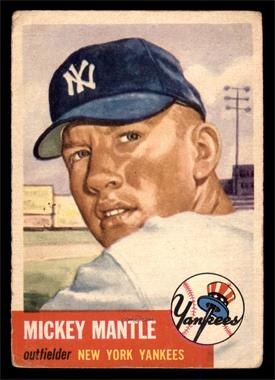 1953 Topps - [Base] #82 - Mickey Mantle [GOOD]