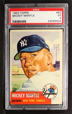 1953 Topps - [Base] #82 - Mickey Mantle [PSA 5 EX]