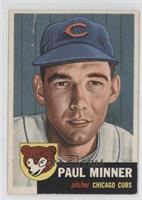 Paul Minner (Bio Information in White) [Good to VG‑EX]