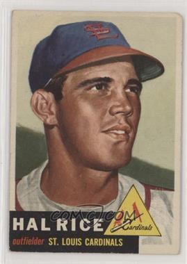 1953 Topps - [Base] #93 - Hal Rice [PoortoFair]