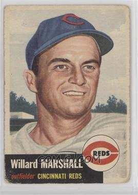 1953 Topps - [Base] #95.1 - Willard Marshall (Bio Information in Black) [Poor]