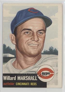 1953 Topps - [Base] #95.1 - Willard Marshall (Bio Information in Black)
