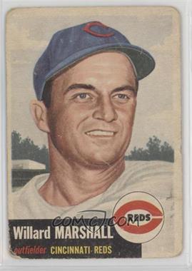 1953 Topps - [Base] #95.2 - Willard Marshall (Bio Information in White) [Poor]
