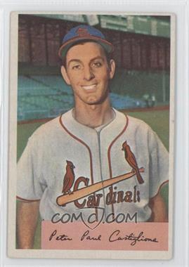 1954 Bowman - [Base] #174.1 - Pete Castiglione (Field Avg. .970/.959) [Good to VG‑EX]
