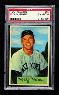 1954 Bowman - [Base] #65 - Mickey Mantle [PSA 6 EX‑MT]