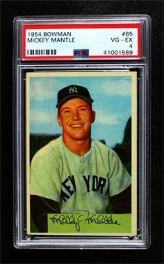 1954 Bowman - [Base] #65 - Mickey Mantle [PSA 4 VG‑EX]