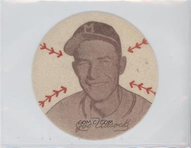 1954 Douglas Felts Milwaukee Braves - [Base] #N/A - Joe Adcock