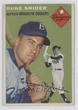 1954 Topps - [Base] #32 - Duke Snider [GoodtoVG‑EX]