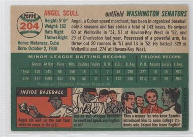 1954 Topps #204 - Angel Scull - Courtesy of COMC.com