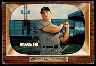 1955 Bowman - [Base] #202 - Mickey Mantle [GOOD]