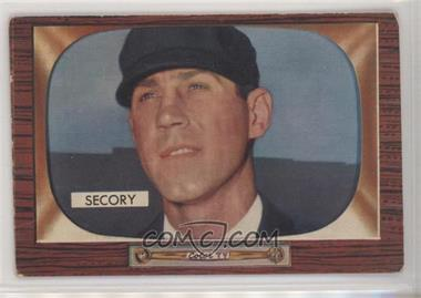 1955 Bowman - [Base] #286 - Frank Secory [Poor to Fair]