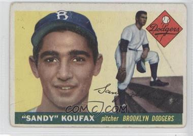 1955 Topps - [Base] #123 - Sandy Koufax [Good to VG‑EX]
