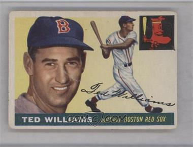 1955 Topps - [Base] #2 - Ted Williams [GoodtoVG‑EX]