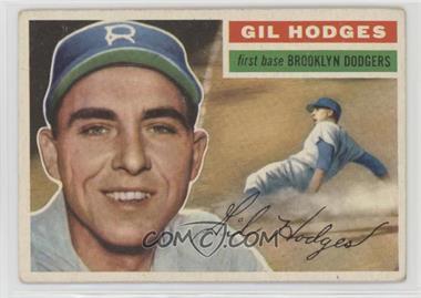 1956 Topps - [Base] #145.1 - Gil Hodges (Gray Back) [GoodtoVG‑EX]
