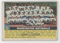 Washington Nationals Team (White Back) [Good to VG‑EX]