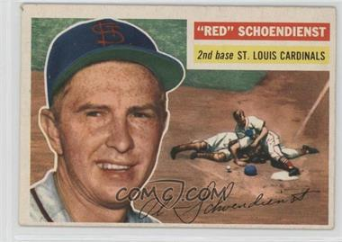 1956 Topps - [Base] #165.1 - Red Schoendienst (Gray Back)