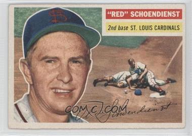 1956 Topps - [Base] #165.1 - Red Schoendienst (Gray Back)