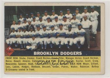 1956 Topps - [Base] #166.1 - Brooklyn Dodgers Team (Gray Back)