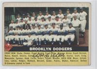 Brooklyn Dodgers Checklist (white back) [GoodtoVG‑EX]