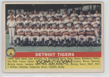 1956 Topps - [Base] #213 - Detroit Tigers Team