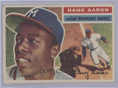 1956 Topps - [Base] #31.2 - Hank Aaron (White Back) [Good to VG‑EX]