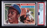 Hank Aaron (White Back: Small Background Photo is Willie Mays) [PSA3…