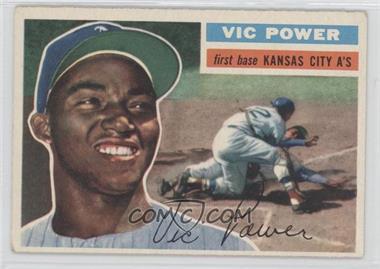 1956 Topps - [Base] #67.1 - Vic Power (Gray Back)