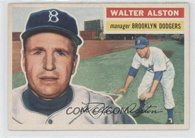 1956 Topps - [Base] #8.1 - Walter Alston (Gray Back)
