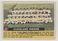 Cleveland Indians Team (White Back, Team Name Centered)