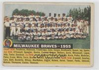 Milwaukee Braves Team (White Back, Team Name and Year) [Poor to Fair]