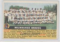 Milwaukee Braves Team (White Back, Team Name Centered)