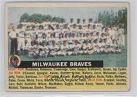 Milwaukee Braves Team (White Back, Team Name Centered) [Good to VG…