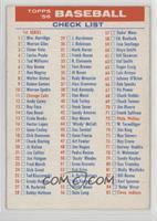 1st & 3rd Series Check List [GoodtoVG‑EX]