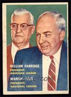 William Harridge, Warren Giles [VG EX]