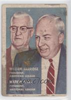 William Harridge, Warren Giles [Good to VG‑EX]