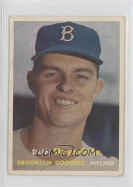 1957 Topps - [Base] #18 - Don Drysdale [Good to VG‑EX]