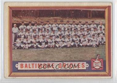 1957 Topps - [Base] #251 - Baltimore Orioles Team [Good to VG‑EX]