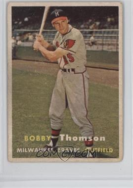 1957 Topps - [Base] #262 - Bobby Thomson [GoodtoVG‑EX]
