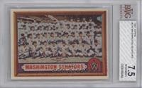 Washington Senators Team [BVG 7.5]