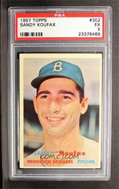 1957 Topps - [Base] #302 - Sandy Koufax [PSA5EX]