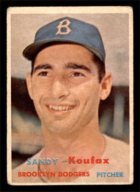 1957 Topps - [Base] #302 - Sandy Koufax [FAIR]