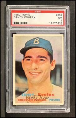 1957 Topps - [Base] #302 - Sandy Koufax [PSA7NM]