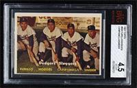 Dodgers' Sluggers (Furillo, Hodges, Campanella, Snider) [BVG4.5VG&#…