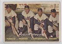 Dodgers' Sluggers (Furillo, Hodges, Campanella, Snider) [GoodtoVG&#…